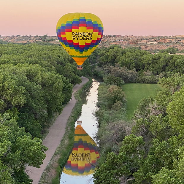 private sunset balloon ride